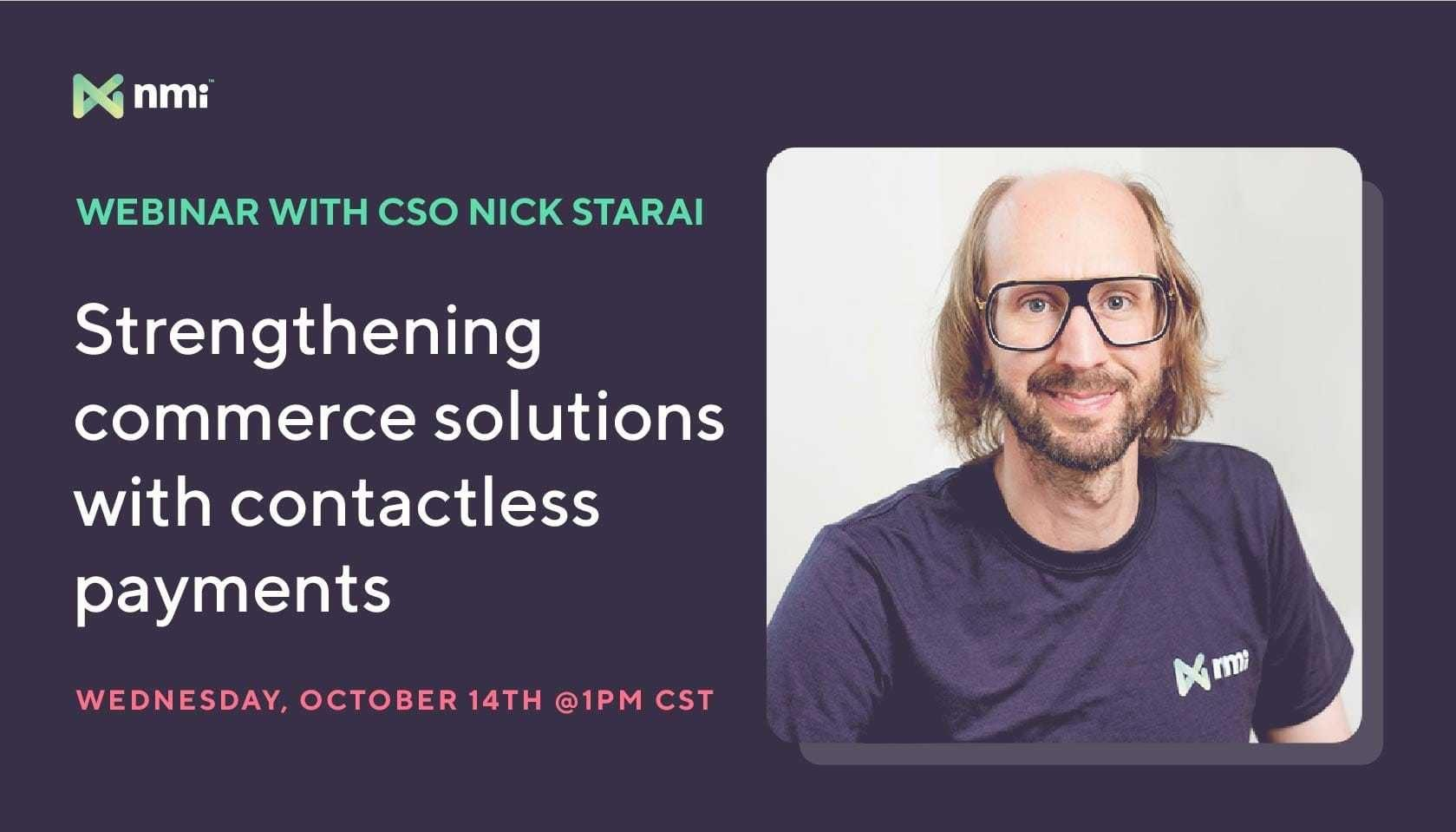 Webinar: Strengthening commerce with contactless payments | NMI